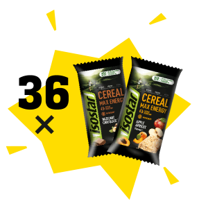 Isostar batoniņi Cereal Max Energy x 36